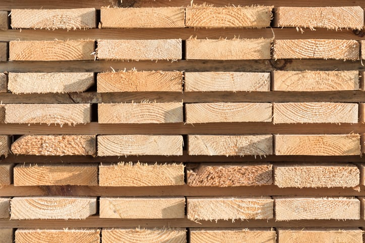 Oswald Wholesale Lumber wooden studs at the lumber yard